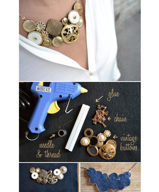 Cum faci un colier cu nasturi vintage