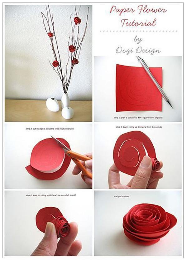 Cum faci usor flori de hartie