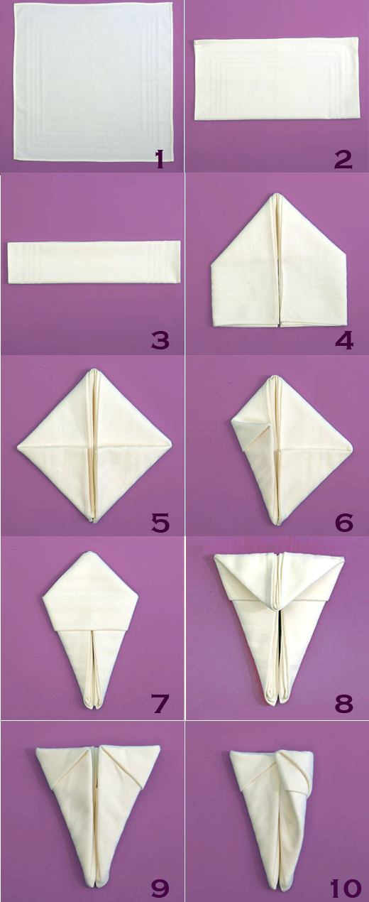 Cum impaturesti un servetel iepuras