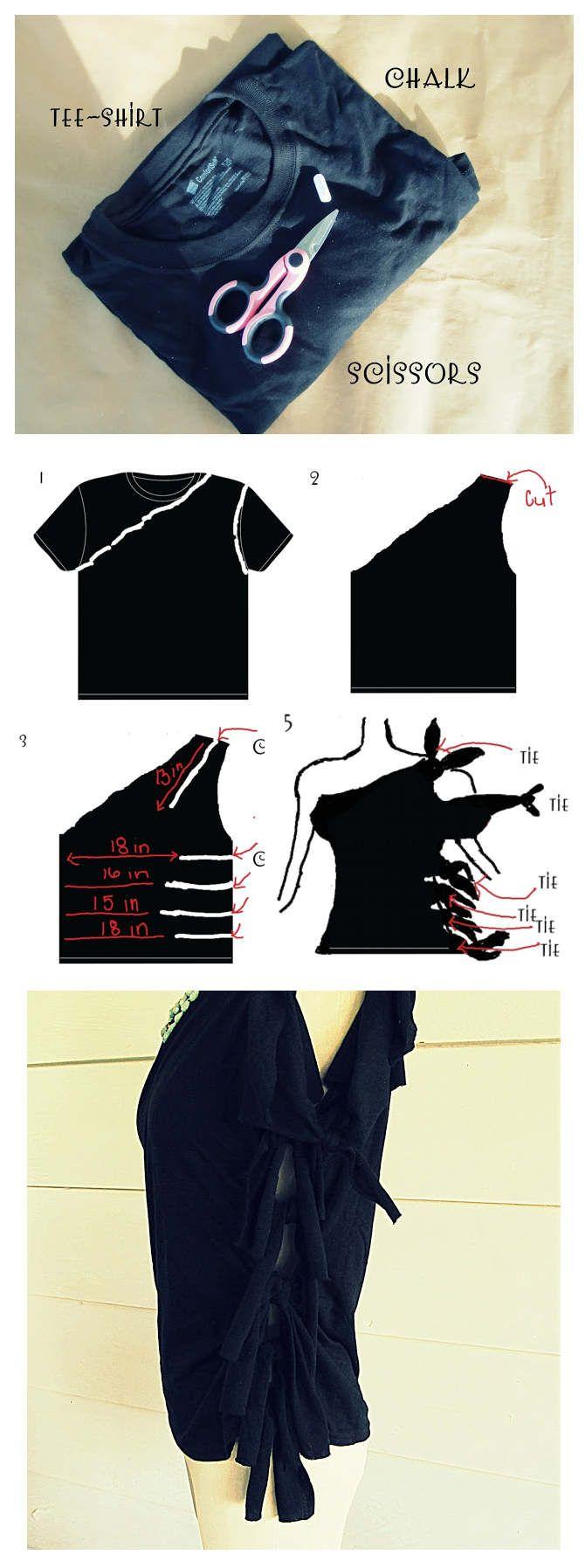 Cum modifici un tricou mare