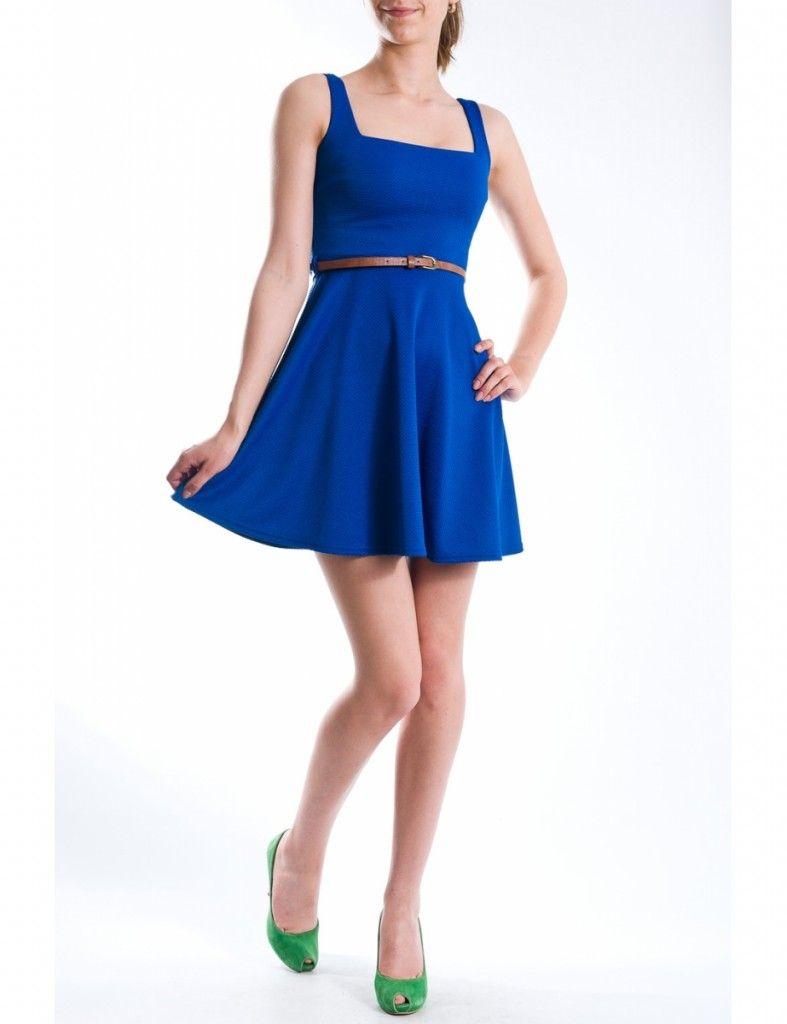 Rochie albastra de vara