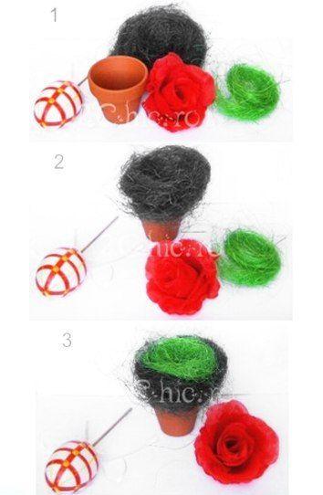 Decor Paste cu ou si trandafir in ghiveci1