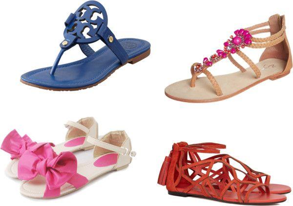 Diferite modele de sandale cu talpa joasa