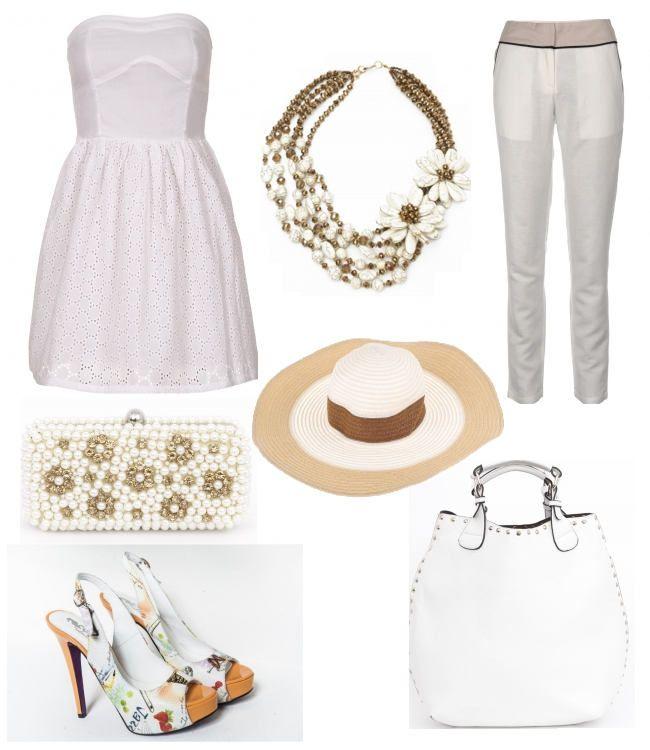 Moda de vara in alb