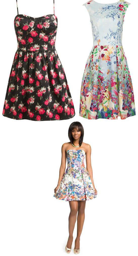 Modele de rochii cu imprimeu floral