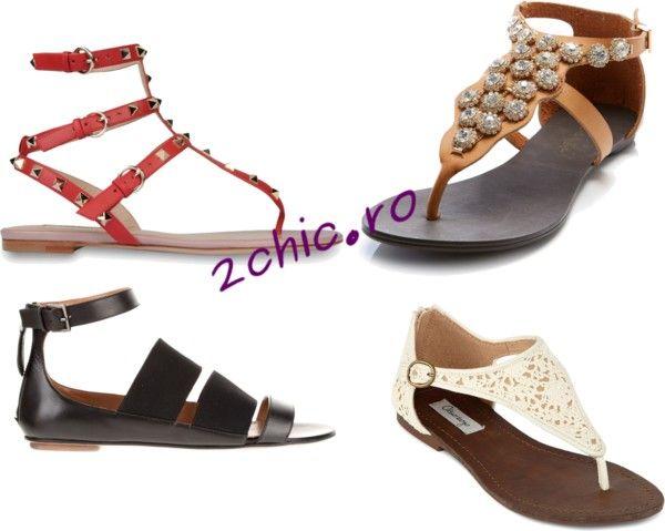 Modele sandale cu talpa joasa