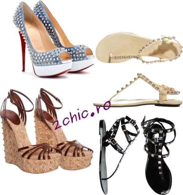 Diferite modele de sandale cu tinte