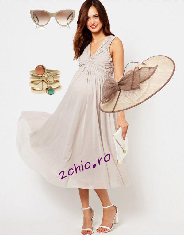 Rochie de vara pentru gravide accesorizata