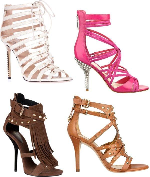 Sandale in tinte cu toc inalt