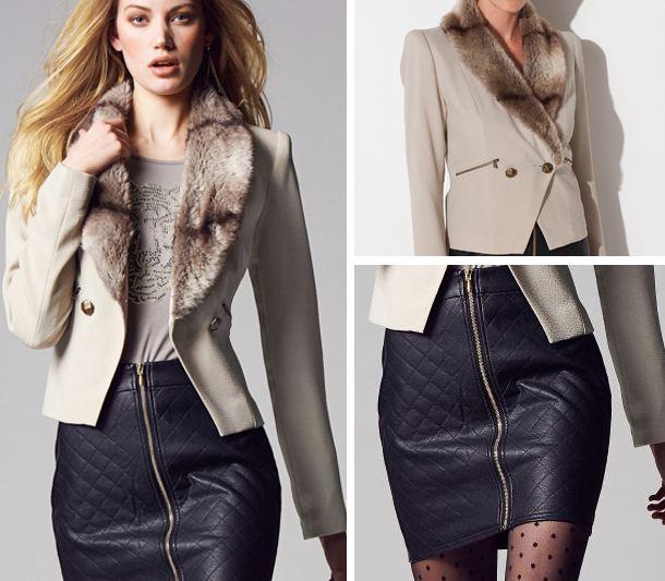 Tinuta de toamna pentru birou, sacou, fusta, bluza