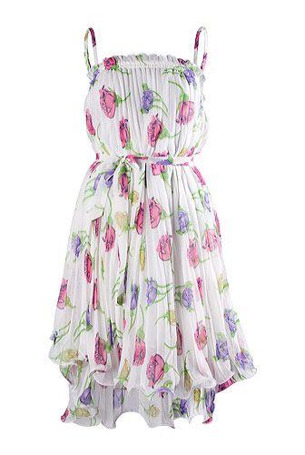Rochie cu bretele, pentru vara, cu flori