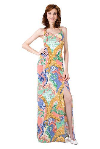 Rochie lunga cu bretele, pentru vara, cu imprimeu