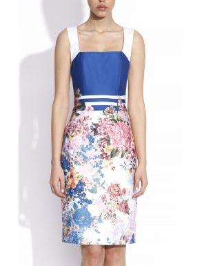Rochie cu bretele imprimeu floral