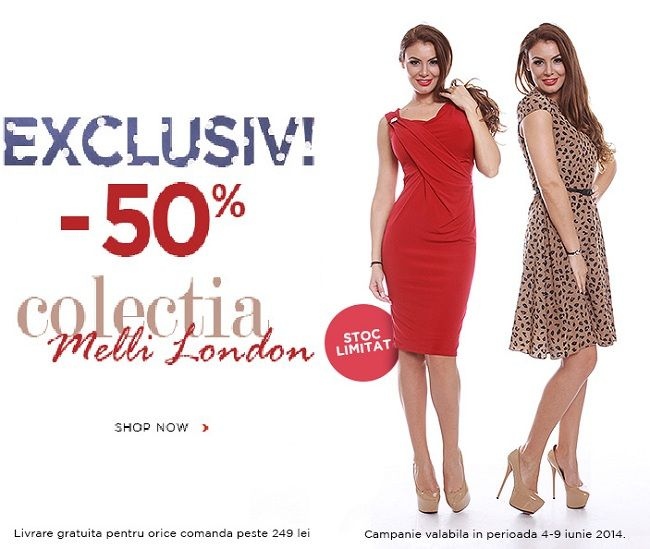 Reducere rochii de vara si bluze brand Melli London