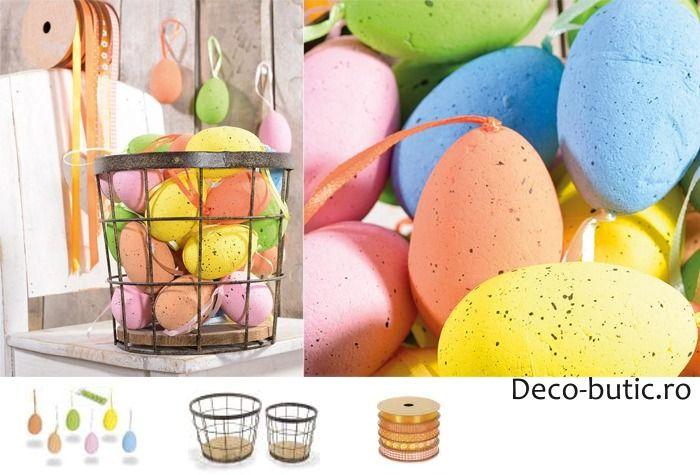 cum decorezi casa de Paste cu oua colorate