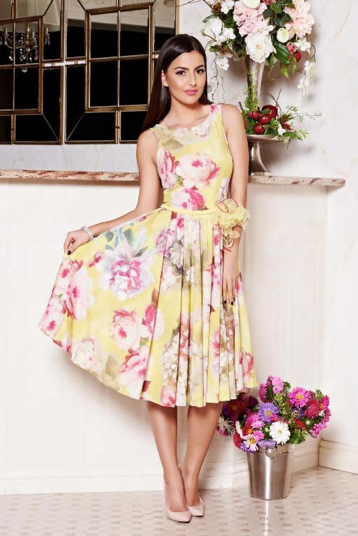 fuste-si-rochii-midi-cu-imprimeu-floral