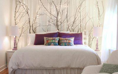 Cum decorezi peretele din spatele patului daca nu ai o tablie de pat