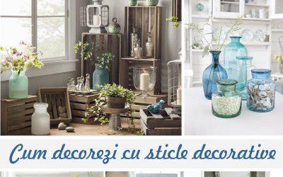 Cum folosesti in casa sticlele decorative cu forme si culori deosebite