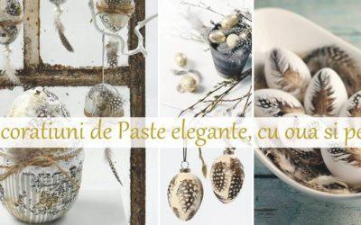Decoratiuni handmade de Paste si primavara cu oua si pene