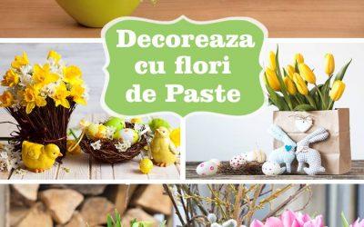 Decoreaza cu flori de Paste, pe langa oua si iepurasi