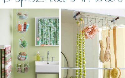 Idei simple pentru organizare si depozitare in baie