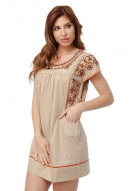 rochie feminina de culoare bej
