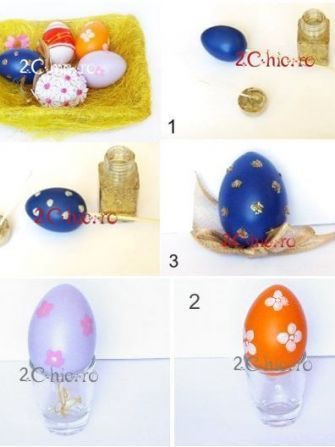 Cum decorezi usor oua de Paste cu copiii