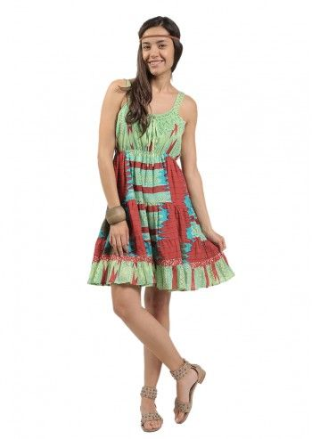 Rochie hippie multicolora