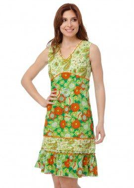 rochie cu imprimeu Paisley si floral